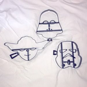 William Sonoma Star Wars Pancake Mold 3 Piece Set